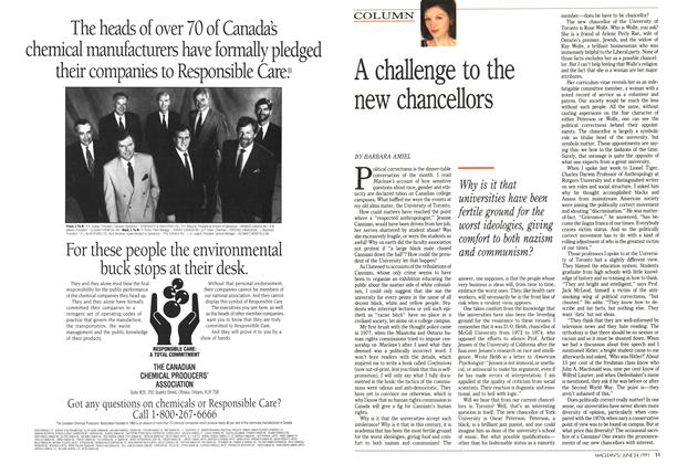 Article Preview: A challenge to the new chancellors, June 1991 | Maclean's