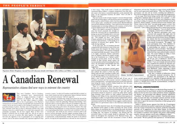 Article Preview: A Canadian Renewal, July 1991 | Maclean's