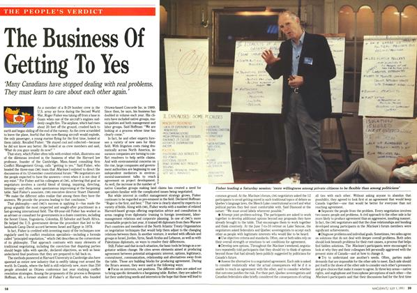 Article Preview: The Business Of Getting To Yes, July 1991 | Maclean's