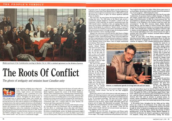 Article Preview: The Roots Of Conflict, July 1991 | Maclean's