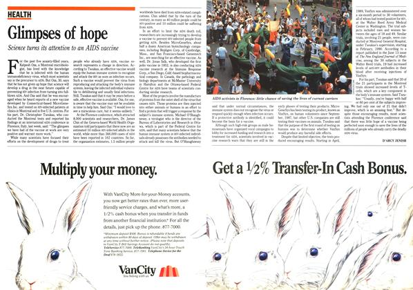 Article Preview: Glimpses of hope, July 1991 | Maclean's