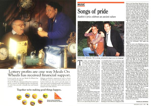 Article Preview: Songs of pride, July 1991 | Maclean's