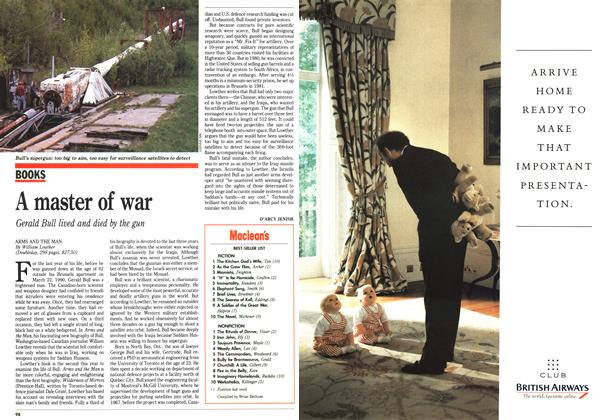 Article Preview: A master of war, July 1991 | Maclean's