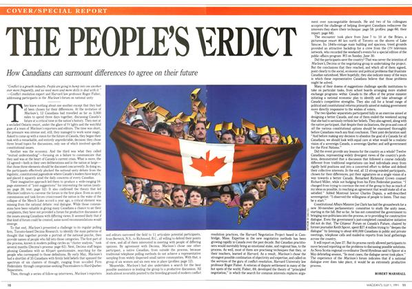 Article Preview: THE PEOPLE'S VERDICT, July 1991 | Maclean's
