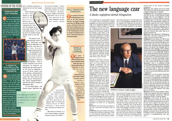 Article Preview: The new language czar, July 1991 | Maclean's