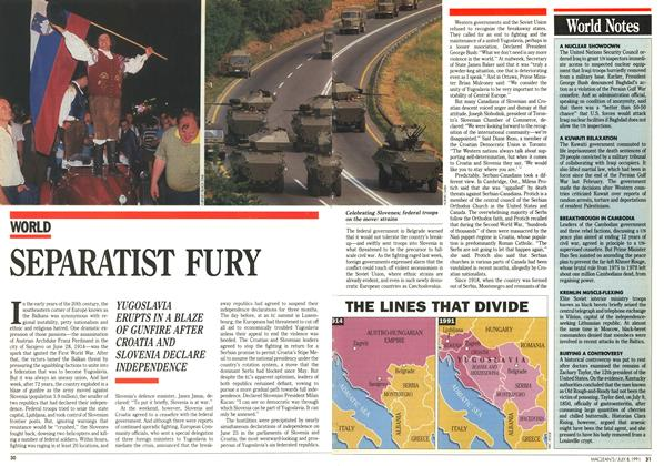 Article Preview: SEPARATIST FURY, July 1991 | Maclean's