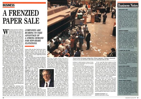 Article Preview: A FRENZIED PAPER SALE, July 1991 | Maclean's