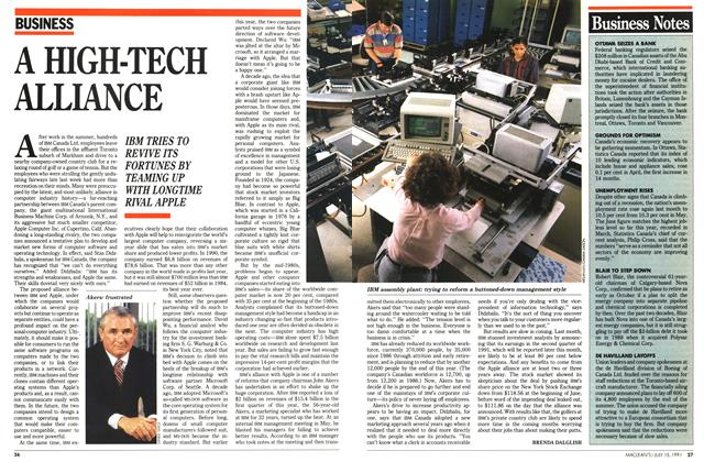 Article Preview: A HIGH-TECH ALLIANCE, JULY  1991 | Maclean's