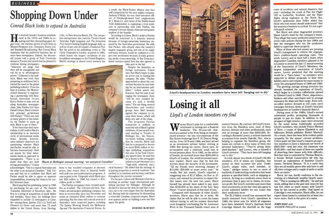 Article Preview: Losing it all, JULY  1991 | Maclean's