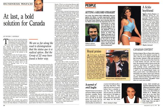 Article Preview: At last, a bold solution for Canada, JULY  1991 | Maclean's