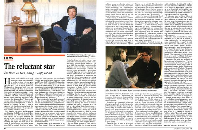 Article Preview: The reluctant star, JULY  1991 | Maclean's