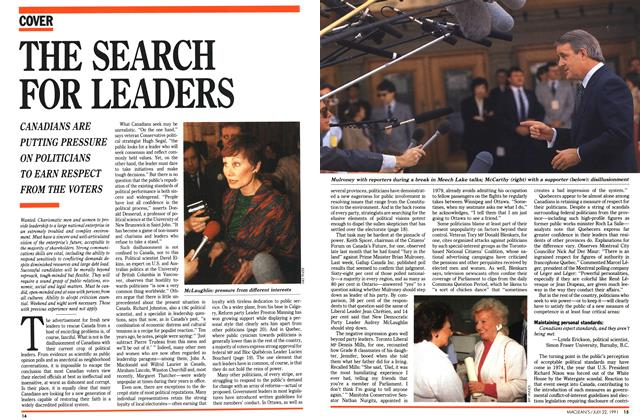 Article Preview: THE SEARCH FOR LEADERS, July 1991 | Maclean's