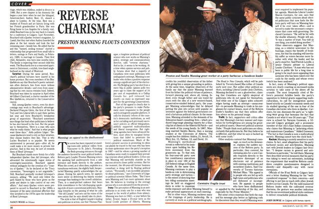 Article Preview: 'REVERSE CHARISMA', July 1991 | Maclean's