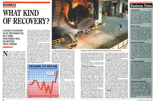 Article Preview: WHAT KIND OF RECOVERY?, July 1991 | Maclean's