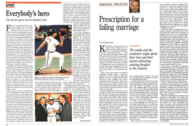 Article Preview: Prescription for a failing marriage, July 1991 | Maclean's