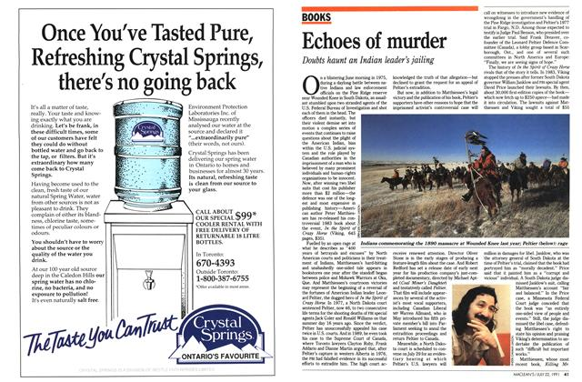 Article Preview: Echoes of murder, July 1991 | Maclean's