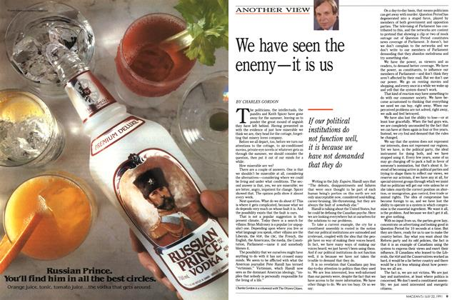 Article Preview: We have seen the enemy—it is us, July 1991 | Maclean's