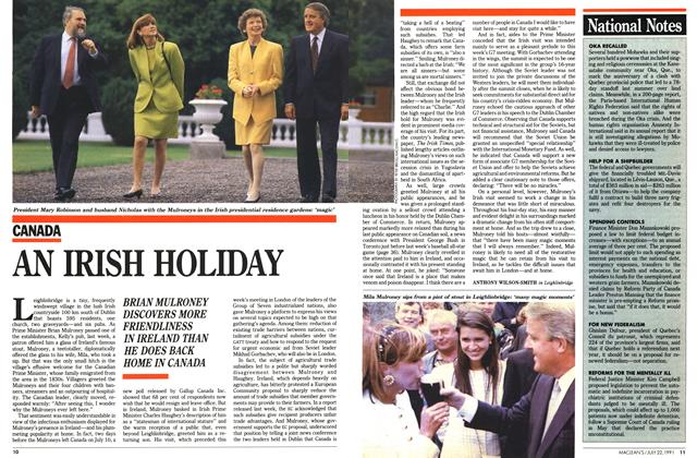 Article Preview: AN IRISH HOLIDAY, July 1991 | Maclean's