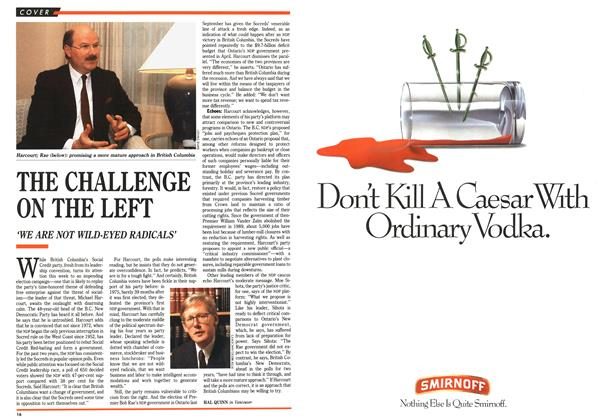 Article Preview: THE CHALLENGE ON THE LEFT, July 1991 | Maclean's