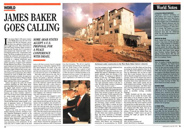 Article Preview: JAMES BAKER GOES CALLING, July 1991 | Maclean's