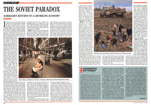 Article Preview: THE SOVIET PARADOX, July 1991 | Maclean's