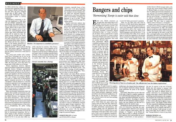 Article Preview: Bangers and chips, July 1991 | Maclean's