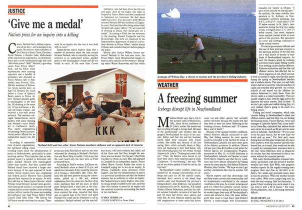 Article Preview: A freezing summer, July 1991 | Maclean's