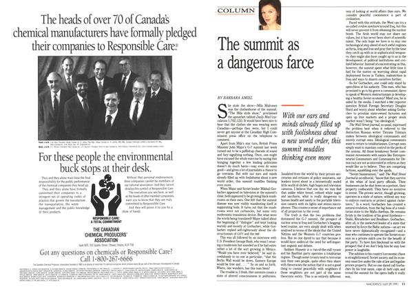 Article Preview: The summit as a dangerous farce, July 1991 | Maclean's