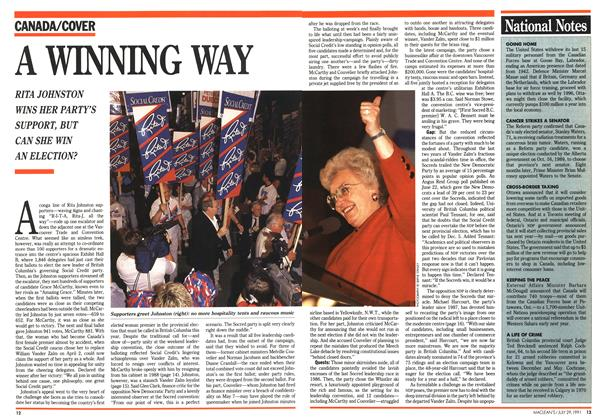 Article Preview: A WINNING WAY, July 1991 | Maclean's