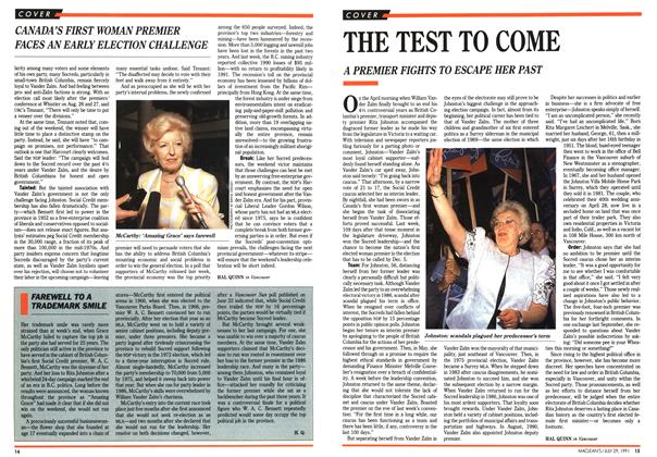 Article Preview: THE TEST TO COME, July 1991 | Maclean's