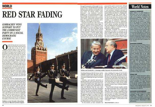 Article Preview: RED STAR FADING, August 1991 | Maclean's