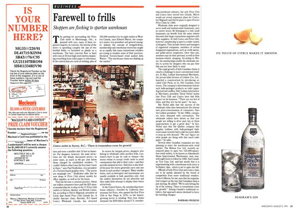 Article Preview: Farewell to frills, August 1991 | Maclean's
