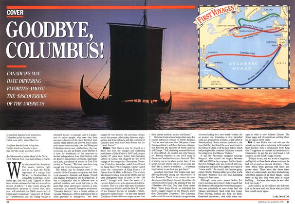 Article Preview: GOODBYE COLUMBUS!, August 1991 | Maclean's