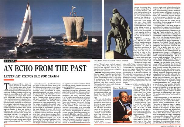 Article Preview: AN ECHO FROM THE PAST, August 1991 | Maclean's