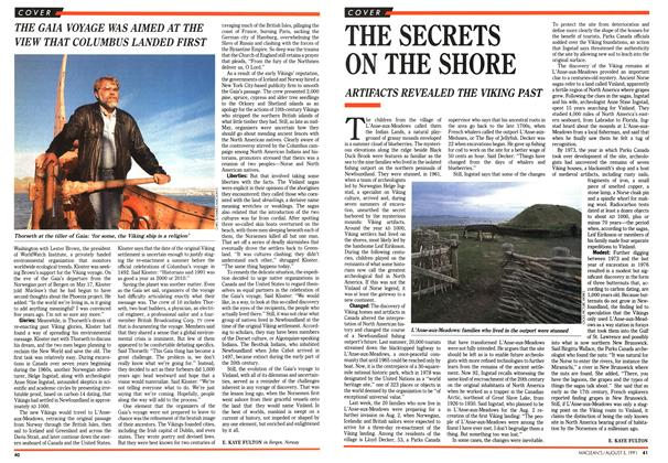 Article Preview: THE SECRETS ON THE SHORE, August 1991 | Maclean's