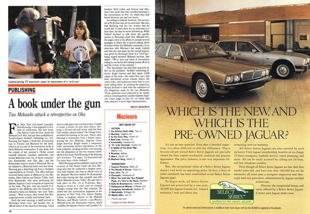 Article Preview: A book under the gun, August 1991 | Maclean's