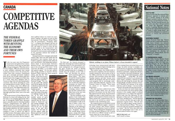 Article Preview: COMPETITIVE AGENDAS, August 1991 | Maclean's