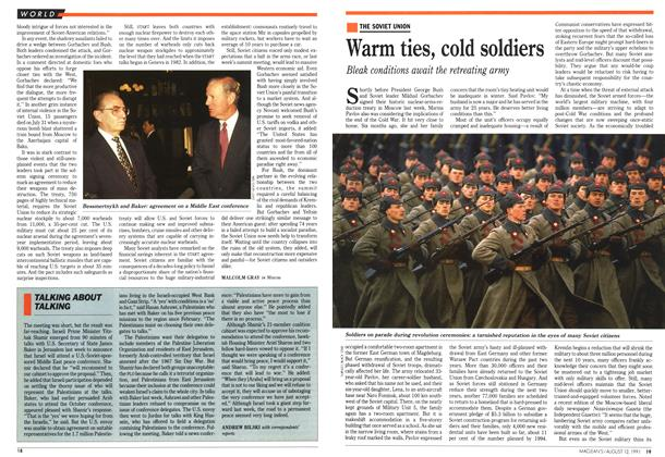 Article Preview: Warm ties, cold soldiers, August 1991 | Maclean's