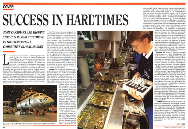 Article Preview: SUCCESS IN HARD TIMES, August 1991 | Maclean's