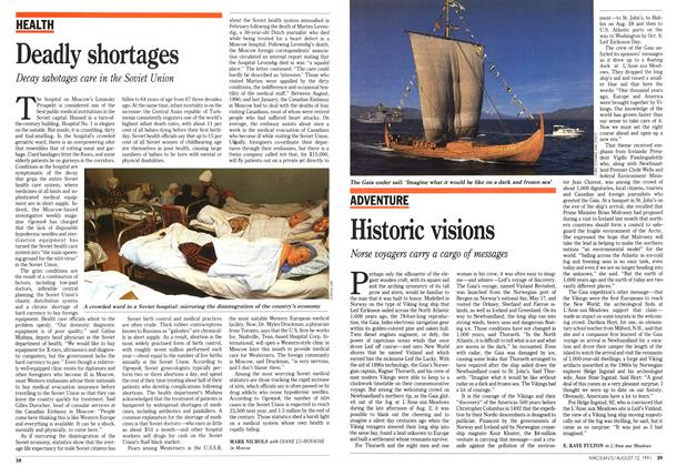 Article Preview: Historic visions, August 1991 | Maclean's