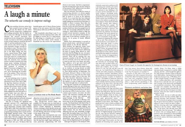 Article Preview: A laugh a minute, August 1991 | Maclean's