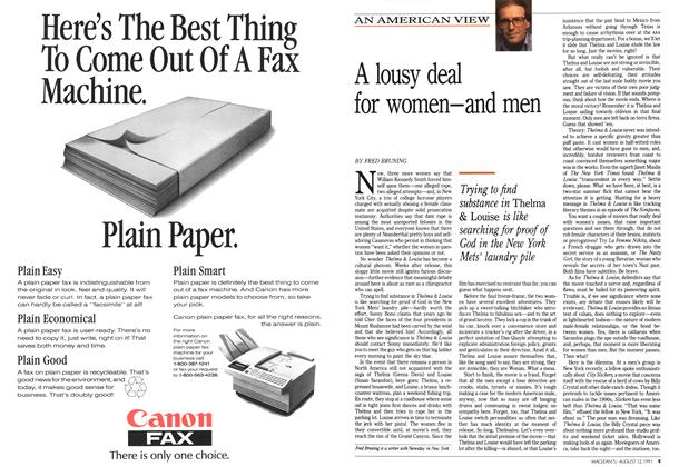 Article Preview: A lousy deal for women—and men, August 1991 | Maclean's