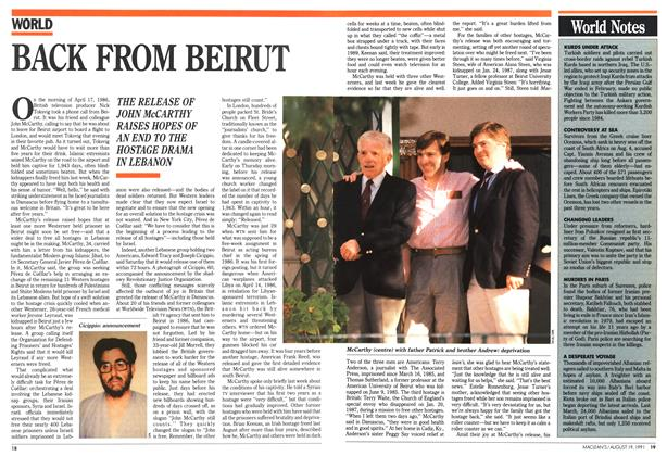 Article Preview: BACK FROM BEIRUT, August 1991 | Maclean's