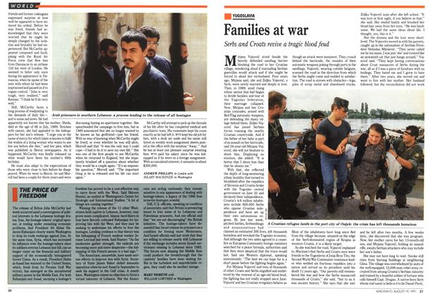 Article Preview: Families at war, August 1991 | Maclean's