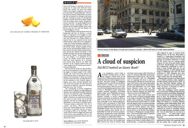 Article Preview: A cloud of suspicion, August 1991 | Maclean's