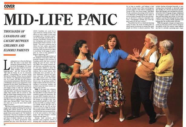 Article Preview: MID-LIFE PANIC, August 1991 | Maclean's