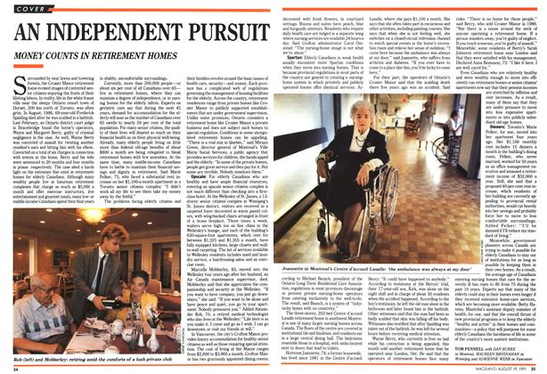 Article Preview: AN INDEPENDENT PURSUIT, August 1991 | Maclean's