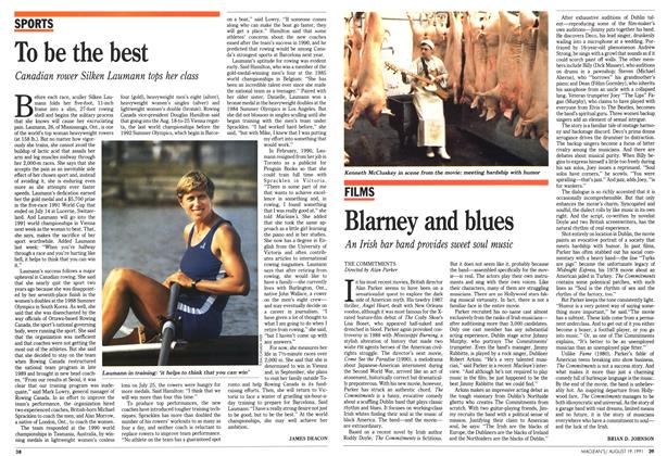 Article Preview: Blarney and blues, August 1991 | Maclean's