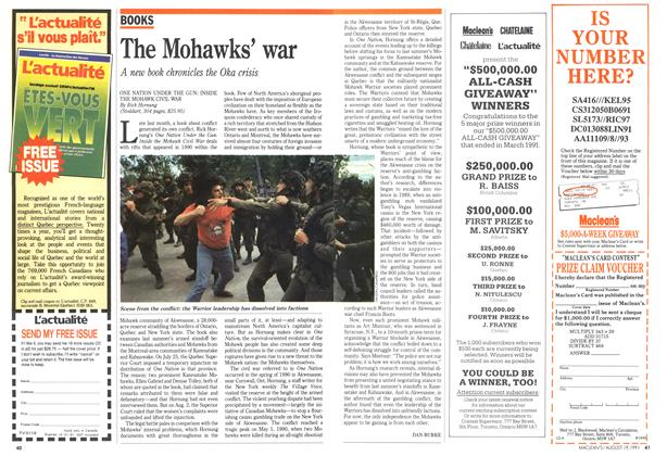 Article Preview: The Mohawks' war, August 1991 | Maclean's