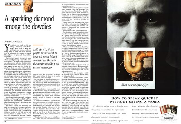 Article Preview: A sparkling diamond among the dowdies, August 1991 | Maclean's